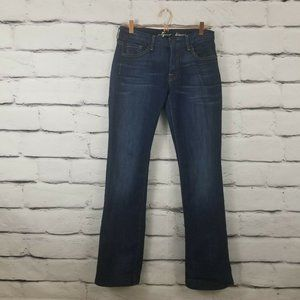Seven 7 For All Mankind Kimmie Boot Cut Blue Jeans